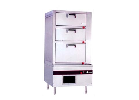 KC011燃气三门海鲜蒸柜